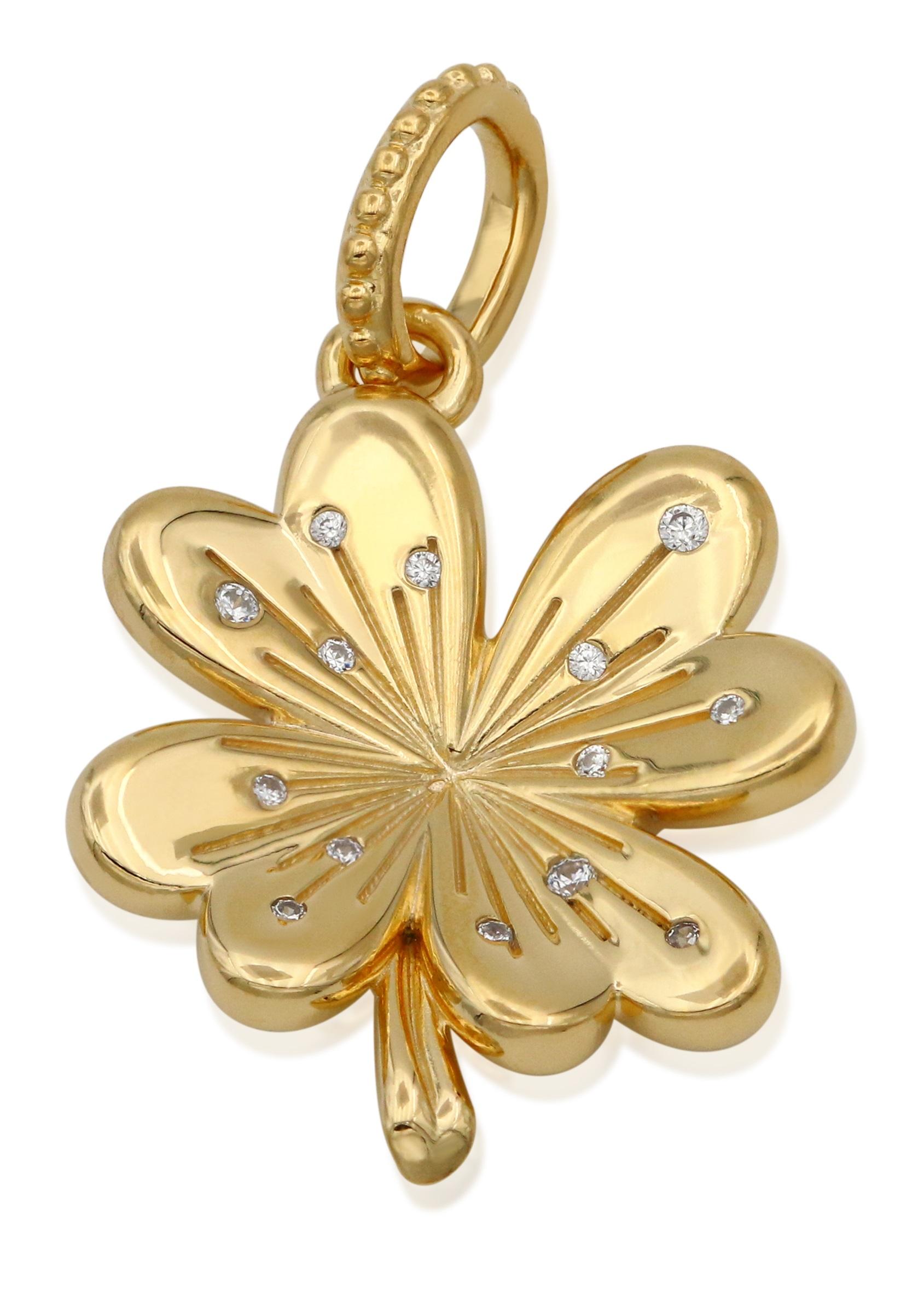 Details about PANDORA Lucky Four-Leaf Clover Pendant