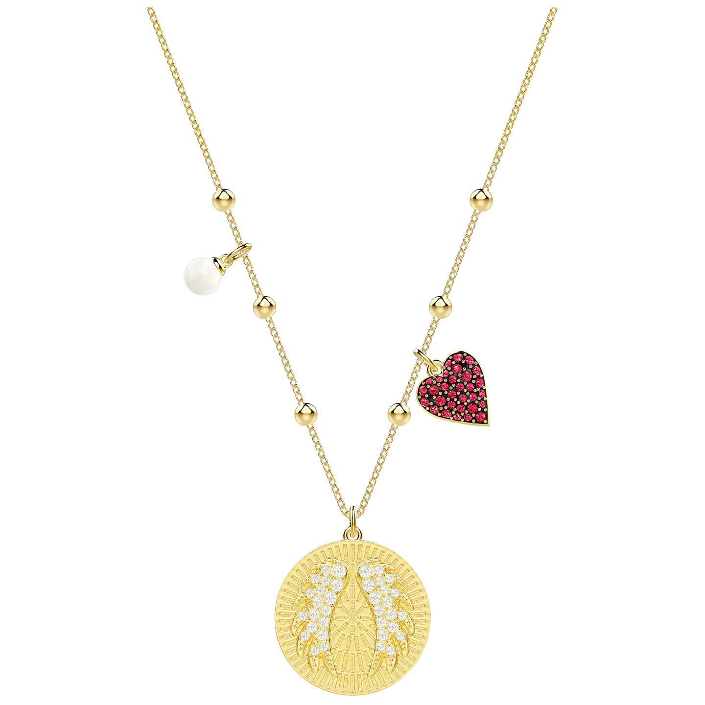 check out newest choose official Details about Swarovski Lucky Goddess Wings Necklace - Multi-coloured -  Gold Plating