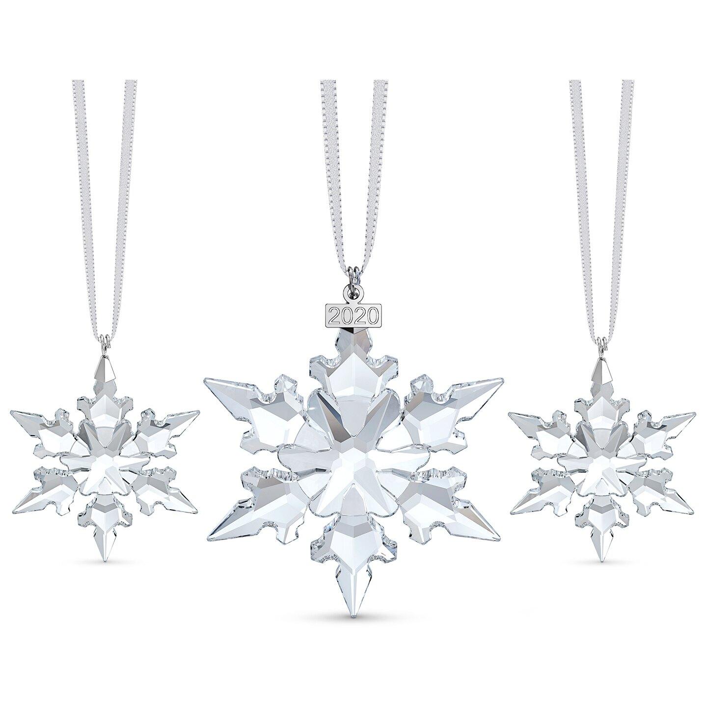 Swarovski Snowflake Annual Edition Ornament Set White For Sale Online Ebay