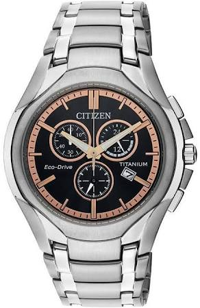 Citizen Eco-Drive Titanium Chronograph Mens Watch AT0940-50G