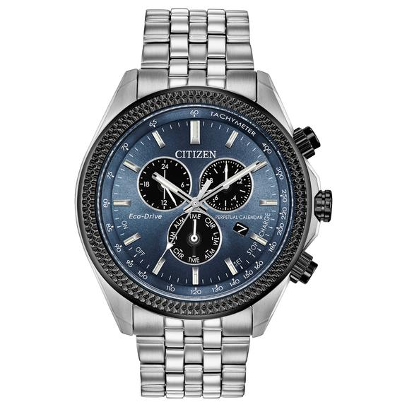 Citizen Eco-Drive Brycen Perpetual Chronograph Mens Watch BL5568-54L