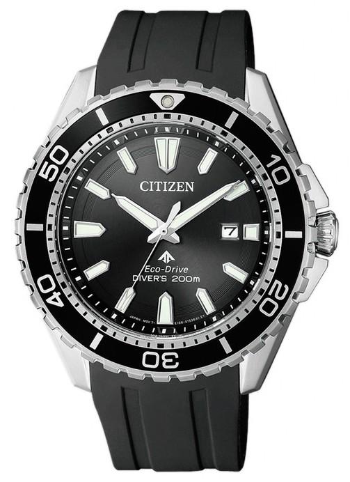 Citizen Eco-Drive Polyurethane Diver Mens Watch BN0190-07E