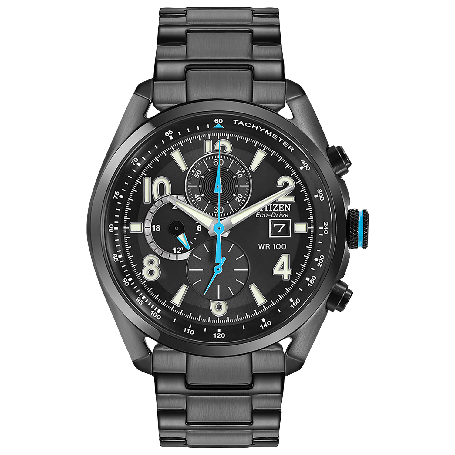 Citizen Eco-Drive Sport Chronograph Mens Watch CA0365-54E