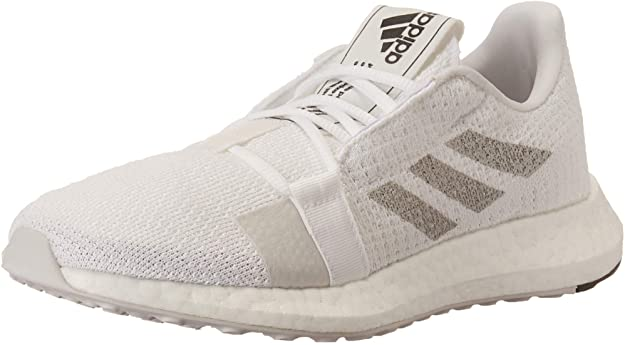 Details about adidas Womens SenseBOOST GO Running Shoes - White/Grey/Black - 8