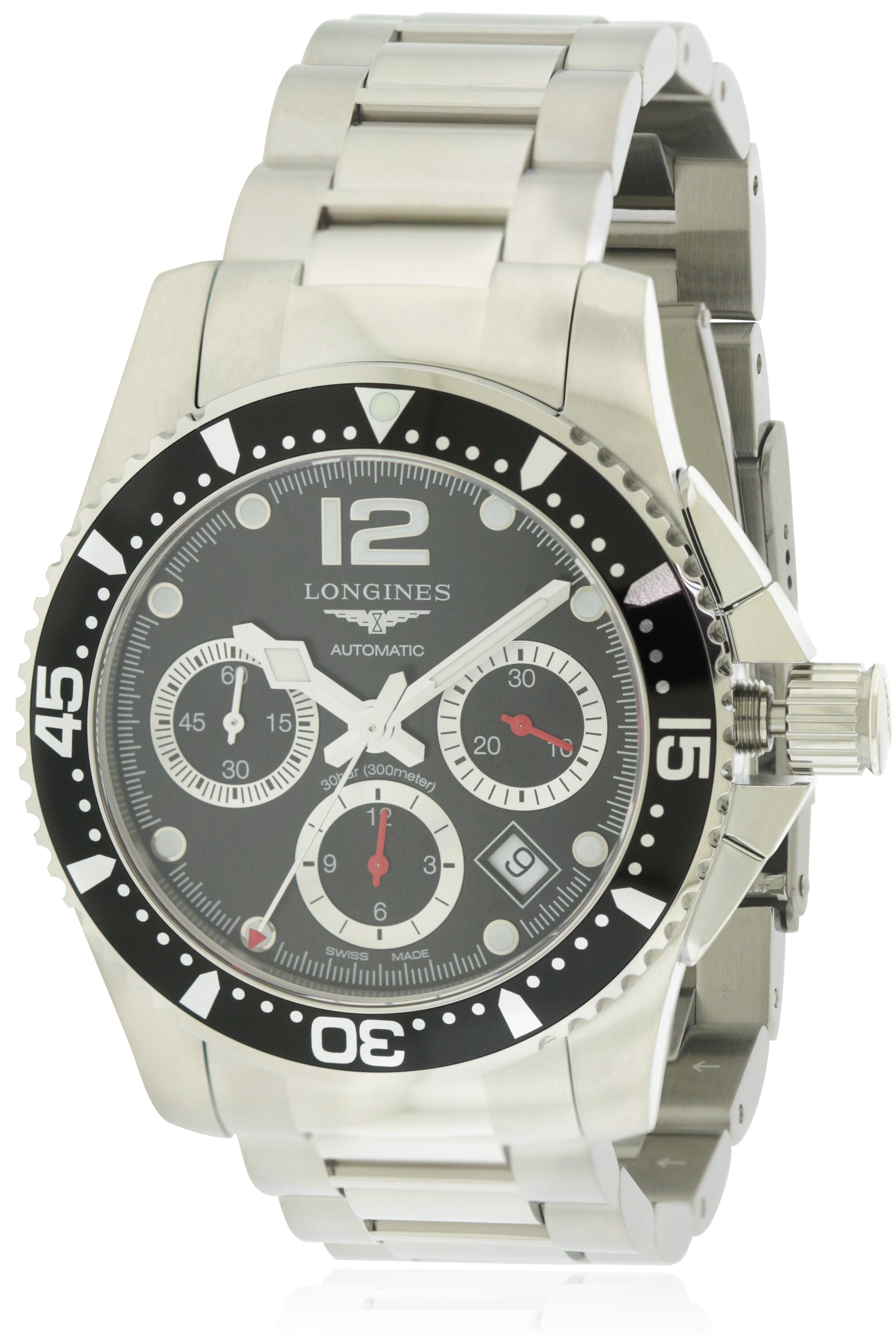 Longines HydroConquest Stainless Steel Automatic Mens Watch