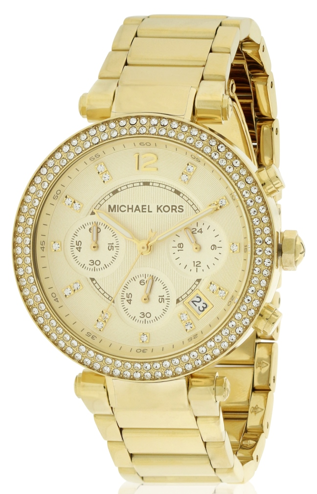 Details about Michael Kors Crystal Chronograph Ladies Watch MK5354