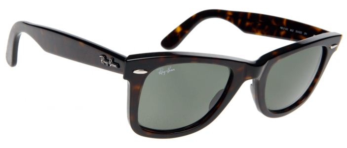 Original Wayfarer Ray Ban Sunglasses Rb2140 Tortoise 902 54mm Green UV Lens