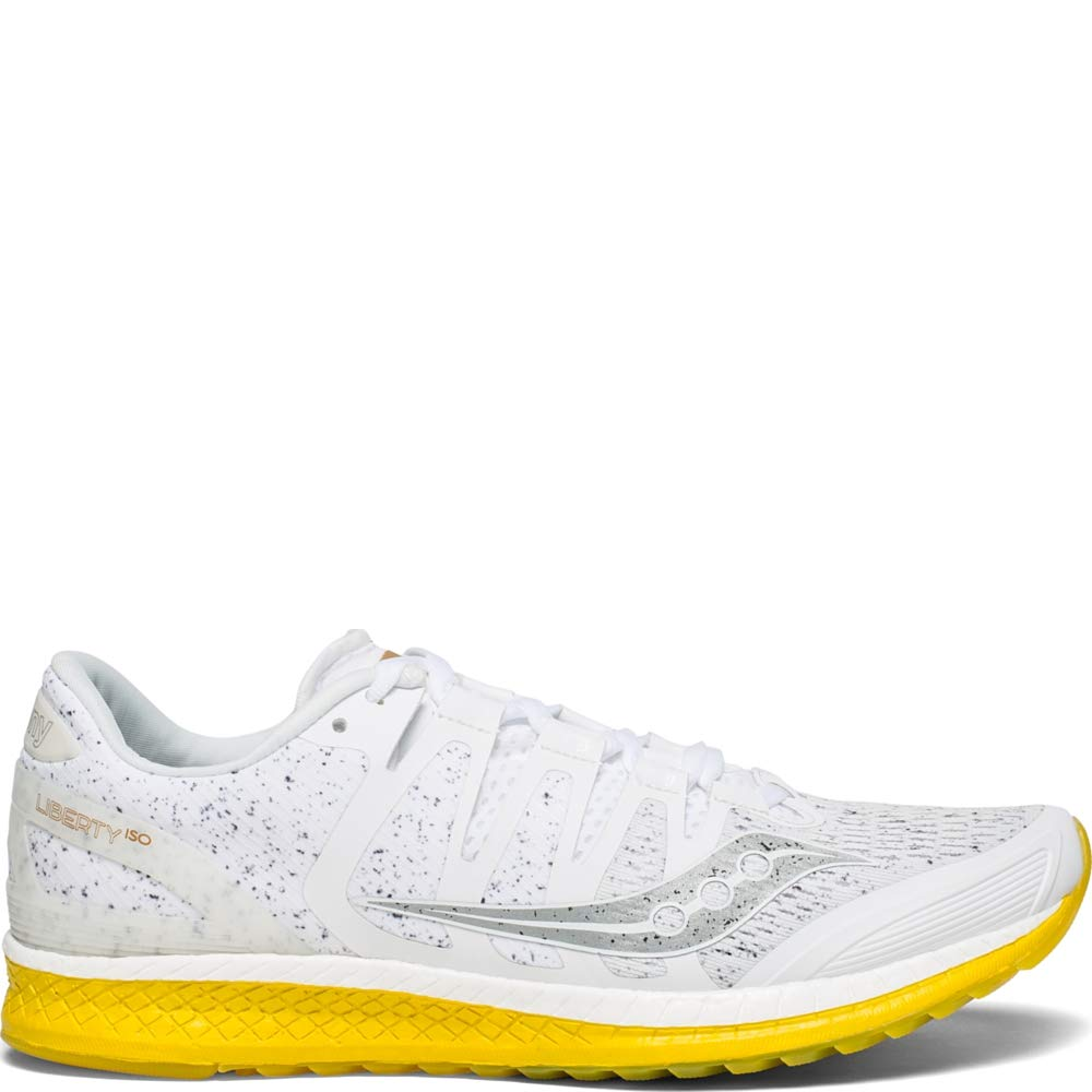 Saucony Liberty ISO Mens Running Shoes Sneakers - White Nois