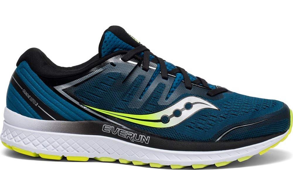 Saucony Mens Guide ISO 2 Road Running Shoe Sneaker - Marine/